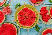 stock photo of watermelon slices  - Watermelon  - JPG