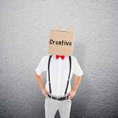 pic of anonymous  - Anonymous businessman against grey wall - JPG