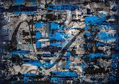 stock photo of alloys  - Original heavily textured abstract painting with a precious metal theme - JPG