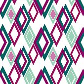 picture of rhombus  - Seamless rhombus bright pattern background geometric abstract texture - JPG