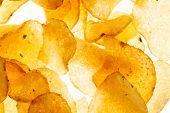 stock photo of potato chips  - potato chips - JPG