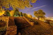 image of serbia  - Belgrade fortress and Kalemegdan park at night Belgrade Serbia  - JPG