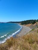 picture of shoreline  - Pacific Ocean shoreline along the southern Oregon Coast - JPG