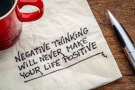 picture of think positive  - negative thinking will never make your life positive  - JPG
