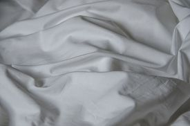 stock photo of messy  - Texture of white fabric wrinkled - JPG