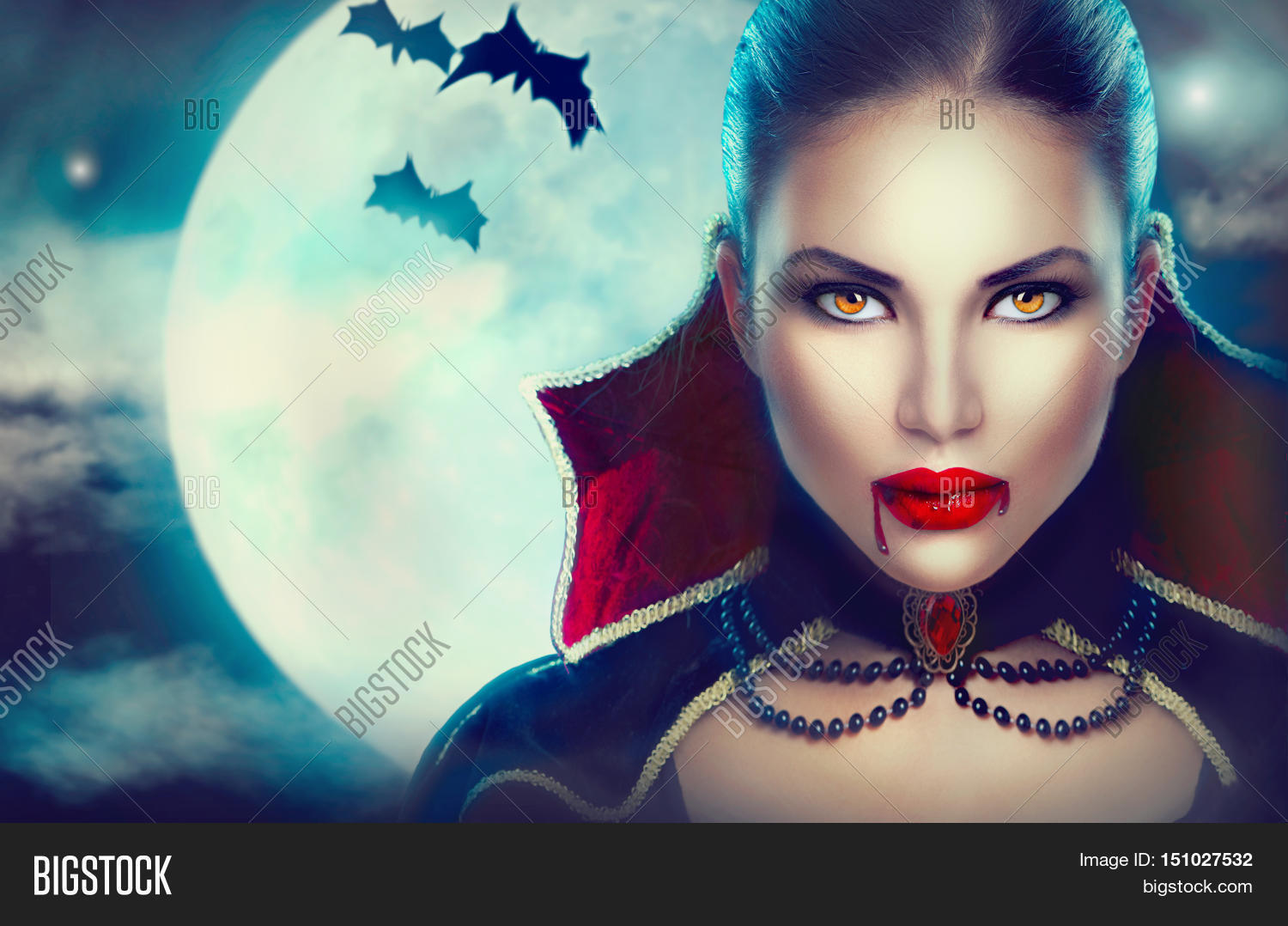 Halloween Vampire Woman Portrait Image U0026 Photo | Bigstock