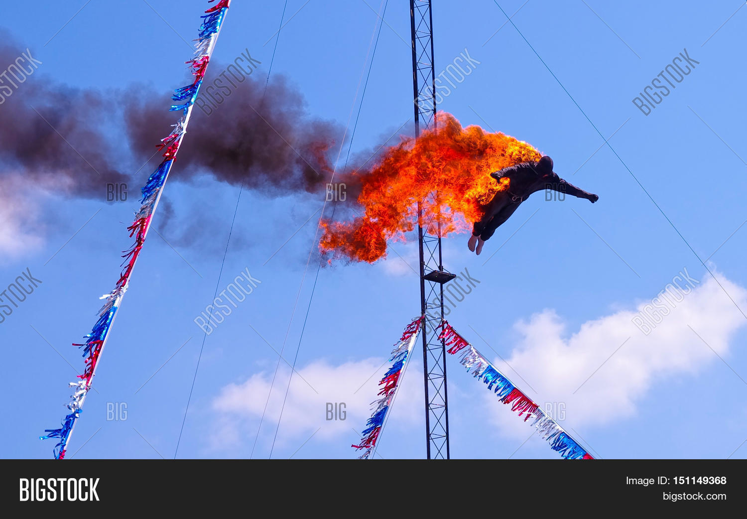 Fire diver daredevil performing off image photo bigstock for Extreme pool show