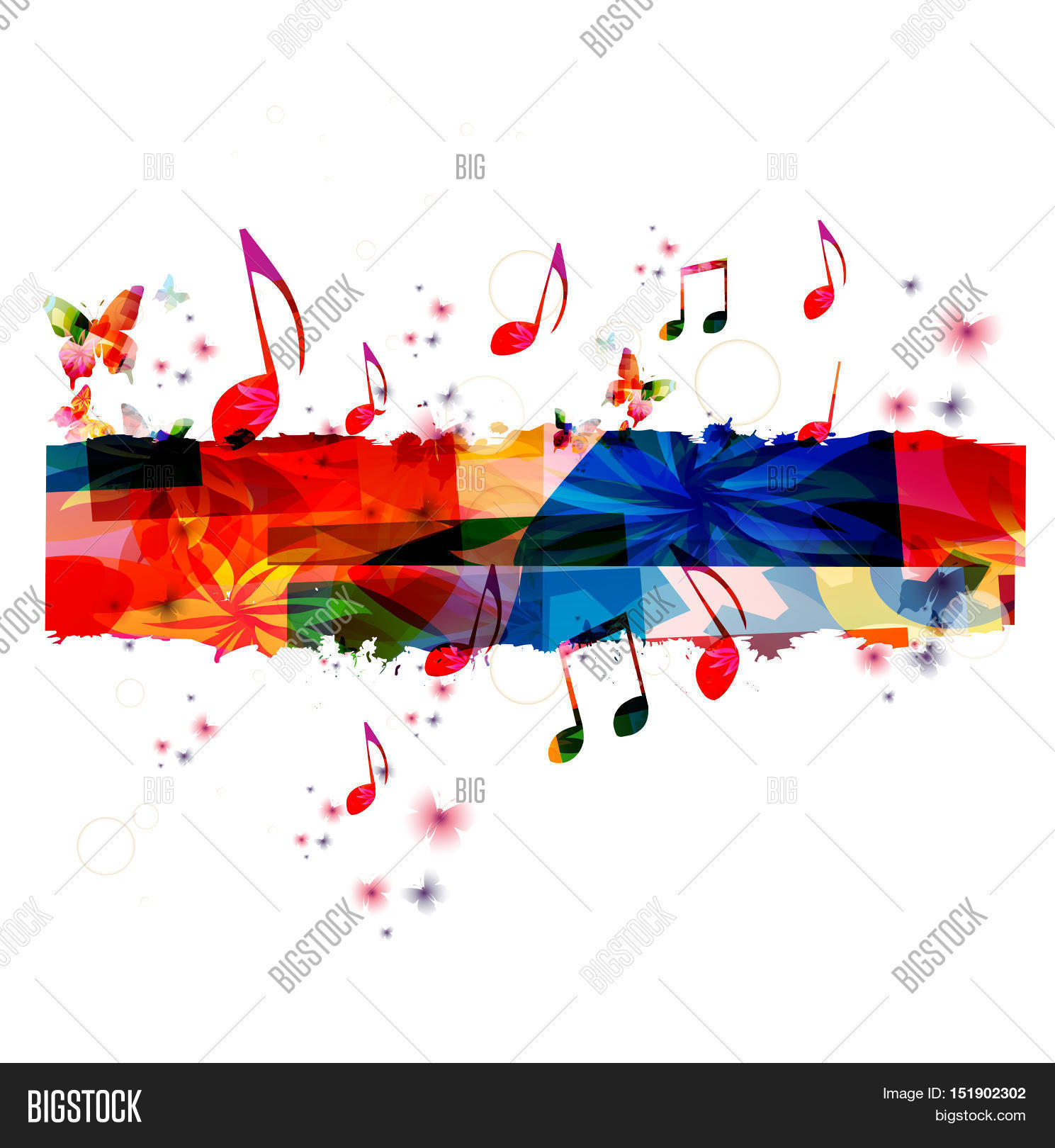 Poster design music - Creative Music Template Vector Illustration Colorful Music Notes Music Background Musical Design