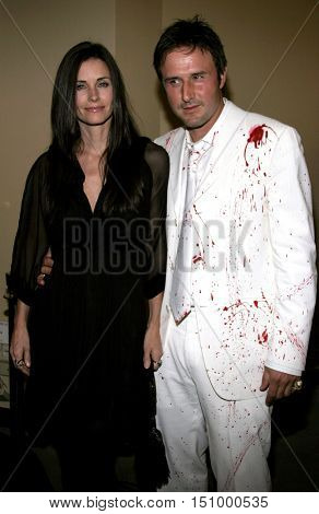 Courteney Cox and David Arquette at the Los Angeles premiere of 'The Tripper' held at the Mann's Chinese 6 in Hollywood, USA on October 13, 2006.