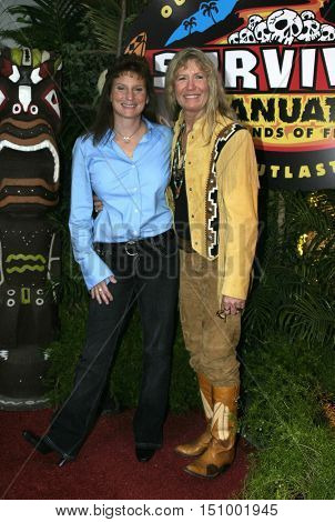 Scout Cloud Lee and Twila Tanner at the finale for 'Survivor Vanuatu Islands of Fire' held at the CBS Television City in Hollywood, USA on December 12, 2004.