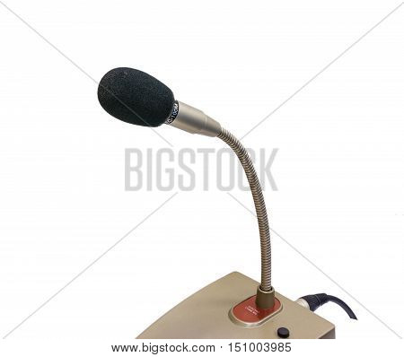 microphone Desktop isolated on a white background