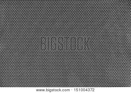 corrugated texture of rough fabric of black color with an interlacing of threads for a woven background and for wallpaper