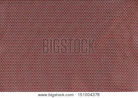 corrugated texture of rough fabric of red color with an interlacing of threads for a woven background and for wallpaper