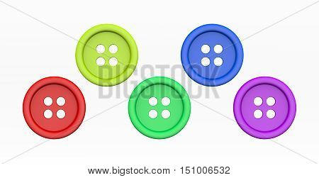 Colorful Tailor's Buttons Set