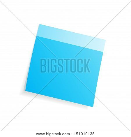 Adhesive note on a white background vector, fully editable.