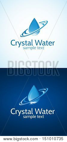 Bright memorable logo water drop.This logo is fully editable and resizable.