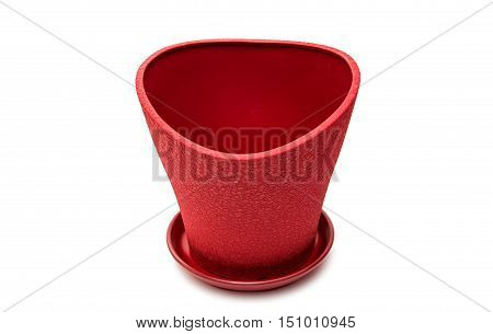flower pot horticulture on a white background