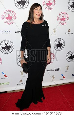 LOS ANGELES - OCT 8:  Anjelica Huston at the 2016 Carousel Of Hope Ball at the Beverly Hilton Hotel on October 8, 2016 in Beverly Hills, CA