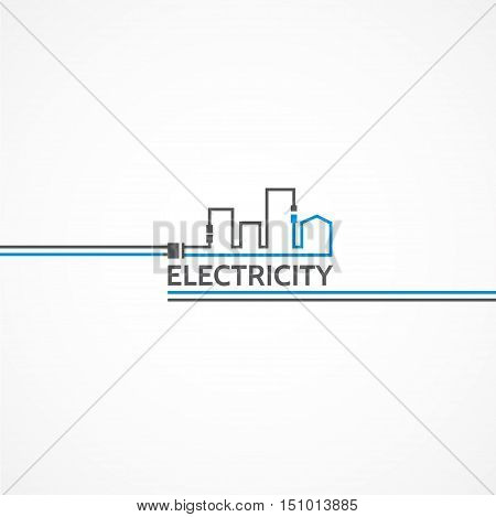 Interesting logo electricity and city vector, fully editable.