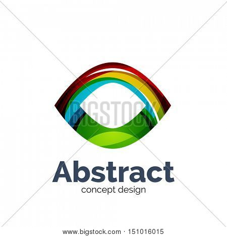 Unusual abstract business logo template - abstract eye shape