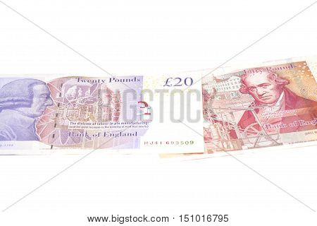 England pounds sterling isolated on white background