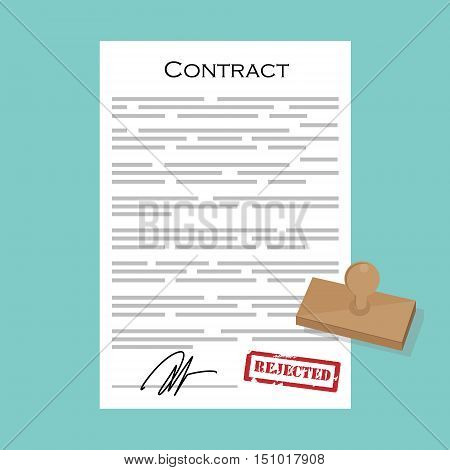 Contract With Stamp Rejected