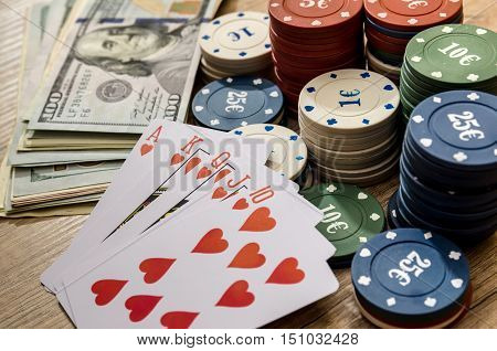play card with us money poker chips