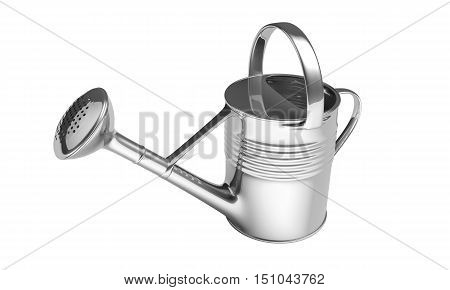 Watering Can Isolated On The White Background
