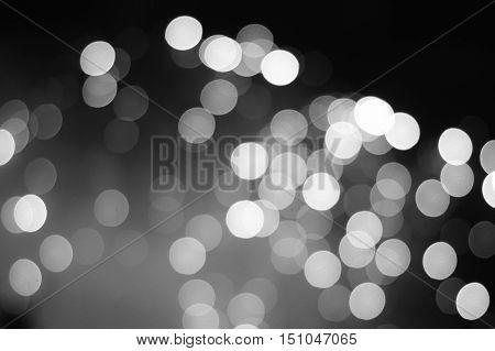 Monochrome Abstract Blur Winter Illumination lights in Japan