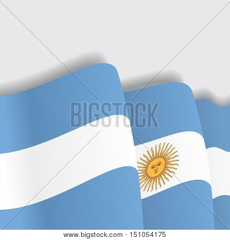 Argentinean waving Flag. Vector illustration Eps 8