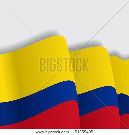 Colombian waving Flag. Vector illustration Eps 8