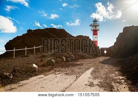 landscape with lighthouse at the cape Punta de Teno - Tenerife Canary Islands Spain