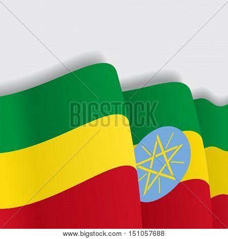 Ethiopian waving Flag. Vector illustration Eps 8