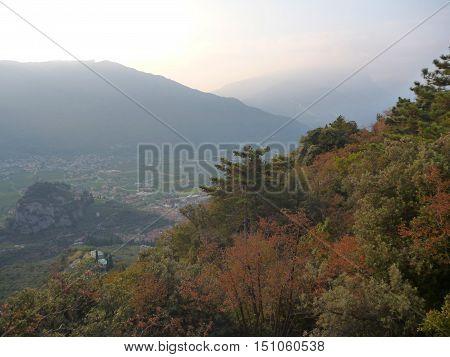 Misty View At Lago Di Garda Mountains
