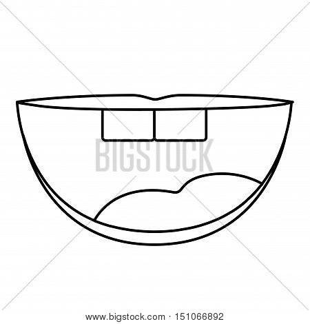 Mouth cartoon icon. Smile theme. Isolated design. Vector illustration