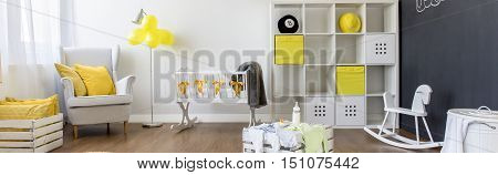 Beautiful Baby Room In Yellow And White