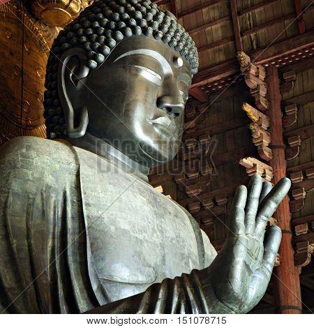 Giant Buddha in Nara, Japan