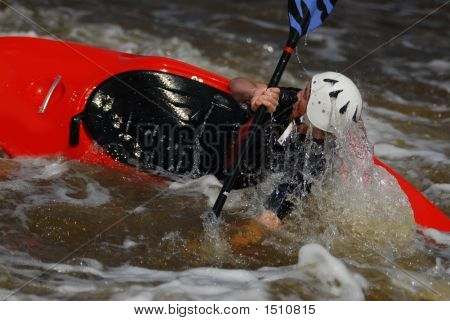Red Kayak Rolling