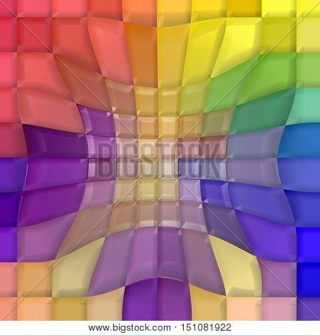 Abstract coloring background of the pastels gradient with visual mosaic,pinch and plastic wrap effects