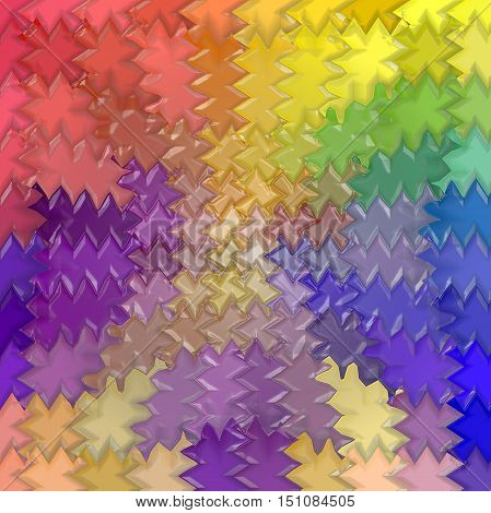Abstract coloring background of the pastels gradient with visual mosaic,pinch,wave and plastic wrap effects