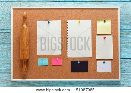 Kitchen Bulletin Board With Note Paper
