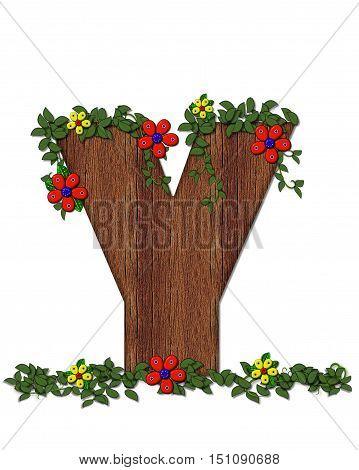 Alphabet Woodland Flowers Y