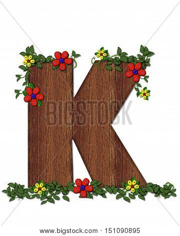 Alphabet Woodland Flowers K