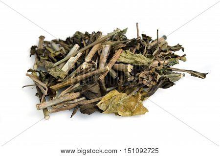 Dried Snake Jasmine, Dainty Spure, White Crane Flower Or Scientifically Called Rhinacanthus Nasutus