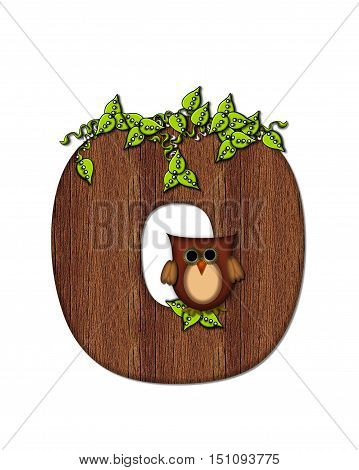 Alphabet Woodsy Owl O