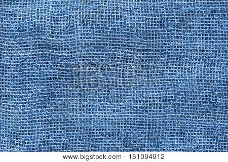 Blank blue canvas closeup as a background