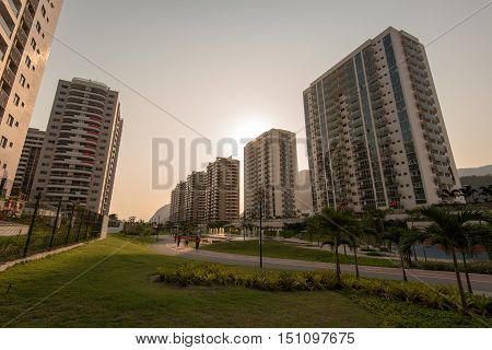 Rio de Janeiro, Brazil - September 18, 2016: Olympic and Paralympic Village where the athletes stayed during the games.
