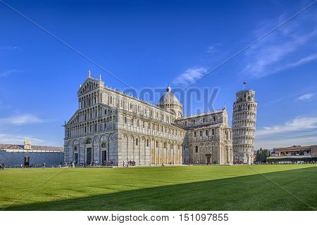 Cathedral of Pisa and Leaning Tower in the Square of Miracles