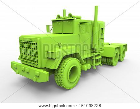 3d illustration of generic truck. isolated on white background