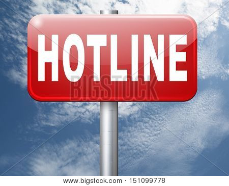 hotline icon call center button or helpline sign for online customer support 3D illustration